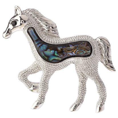 Fashion Icon Brož kůň Paua perleť perleť paua perleť paua bez kamínku etno přírodní materiály 0412