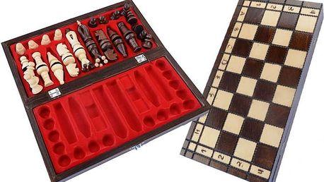 Dřevěné přenosné šachy z masivní borovice