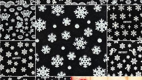 Samolepky na nehty s vánočními motivy - poštovné zdarma