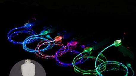 Nabíjecí kabel s LED světlem - 1 m