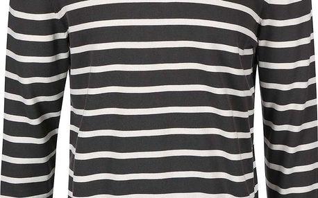 Bílo-šedý pánský pruhovaný svetr s.Oliver