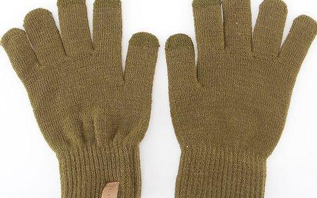 Khaki pánské zimní rukavice Selected Homme Leth