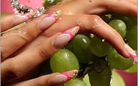 Celková modeláž gelových nebo akrylových nehtů se zdobením. Gelové nehty jsou praktické, krásné a hlavně vždy perfektní!