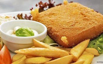 Smažený sýr, hranolky a tatarka pro dva v restauraci Oáza