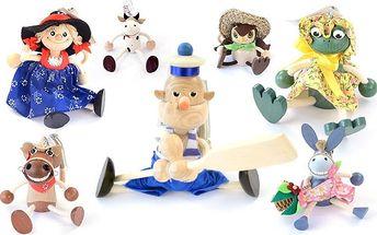Dřevěné houpací hračky na pružině
