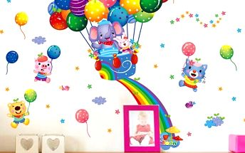 Veselá samolepka na zeď Balloons