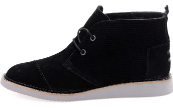 Černé pánské kožené kotníkové boty TOMS Mateo Chukka