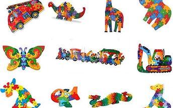 Vzdělávací dřevěné puzzle dle výběru. Zábavný dárek pro děti od 3 let.