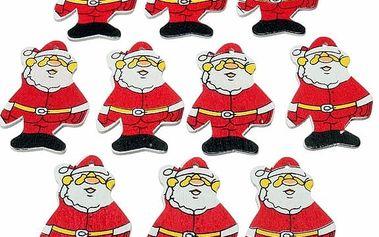 Dřevěná postavička - Santa Claus - 50 ks