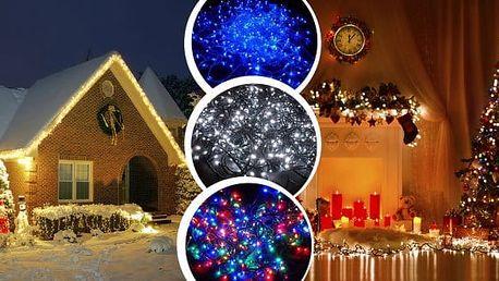 Vánoční LED osvětlení - extrémně dlouhé 35 m, 500 LED žárovek, v univerzální barvě multikolor, vnitřní i venkovní použití. Váš ozdobený stromeček a dům se rozzáří. Doprava zdarma!
