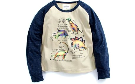 Dětské tričko s potiskem dinosaurů