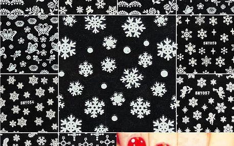 Samolepky na nehty s vánočními motivy