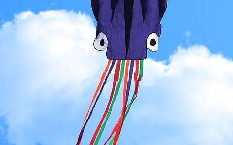 Létající drak pro děti - chobotnice - 5,5 m - poštovné zdarma