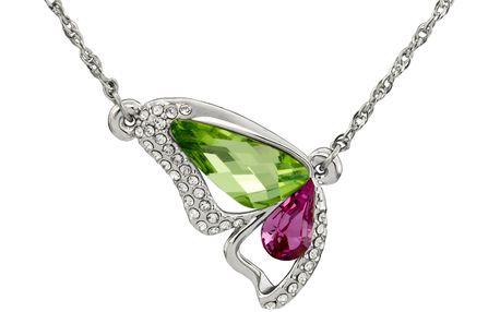 Fashion Icon Přívěsek s řetízkem motýl s krystaly Swarovski elements