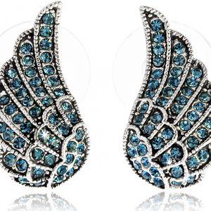 Fashion Icon Náušnice andělská křídla s krystalky