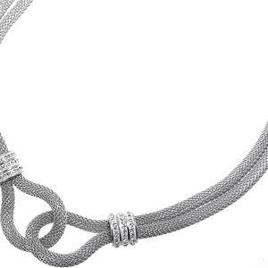 Náhrdelník drátky s krystalky chirurgická ocel