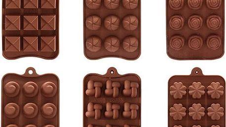 Silikonová forma na čokoládové bonbony - výběr ze 6 vzorů