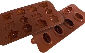 2 ozdobné silikonové formy na led i čokoládu