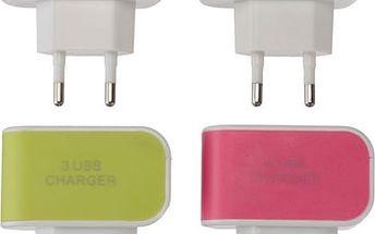 Nabíjecí adaptér do zásuvky - 3 USB porty