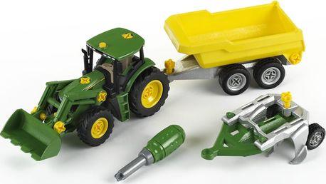John Deere Traktor se sklápěcím přívěsem