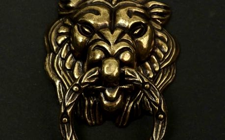 Kovové klepátko na dveře - Lev - dodání do 2 dnů