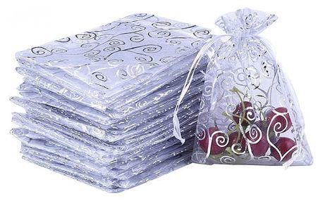 Sada bílých sáčků z organzy - 50 kusů