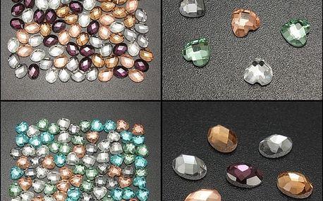 100 kusů kamínků na nehty ve dvou verzích - poštovné zdarma