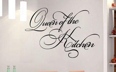 Královna kuchyně - samolepka na zeď