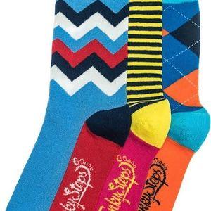 Tři páry ponožek Funky Steps Bady, unisex velikost
