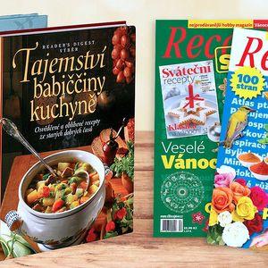 Předplatné časopisu Receptář a knižní dárek