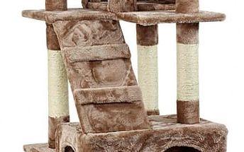 Škrabadlo pro kočky, 170x75x50 cm , barva červeno hnědá