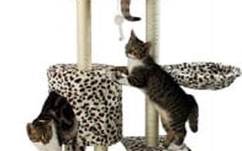 Škrabadlo pro kočky Hawaj, 138x50,5x36 cm, barva leopardí