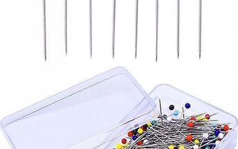 250 kusů špendlíků s barevnými hlavičkami