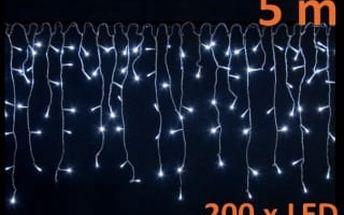 OEM M02053 světelný vánoční řetěz déšť s 200 LED, studená bílá 5 m