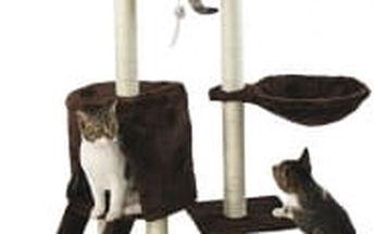 Škrabadlo pro kočky Hawaj, 138x50,5x36 cm, barva tmavě hnědá