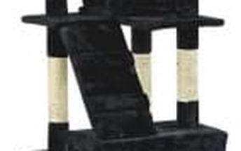 Škrabadlo pro kočky, 170x75x50 cm , barva černá
