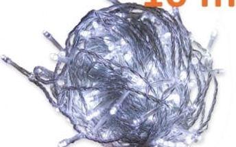 Vánoční LED osvětlení 10 m - studená bílá, 100 MAXI LED diod OEM D28838