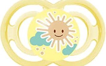 MAM Dudlík PERFECT 6+ měsíců, silikon-žlutý – náhodný motiv