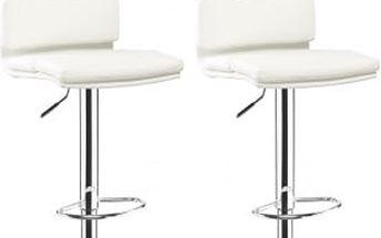 2x Barová židle CL-7006-2 WT (bílá)