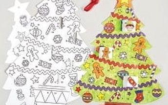 Adventní kalendář vánoční stromek