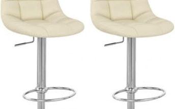 2x Barová židle CL-8023 BG (krémová)