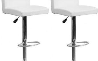 2x Barová židle CL-7004 WT (bílá)