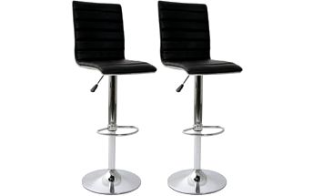 2x Barová židle Signal Krokus C-331 (černá)