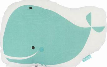 Polštářek Baleno Whale Ride, 40x30 cm