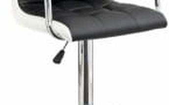 Barová židle CL-3331 (černá/bílá) - 1 kus