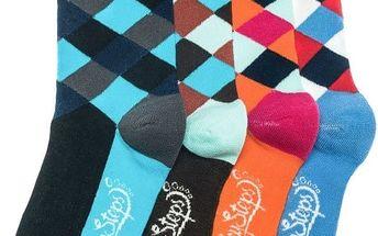 Čtyři páry ponožek Funky Steps Pongo, unisex velikost