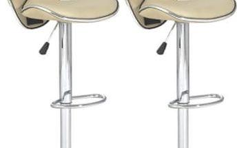 2x Barová židle CL-2112 WT (krémová)