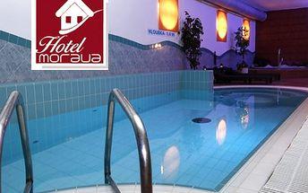 Pobyt pro dva v Hotelu Morava*** s polopenzí,neomezený wellness, vstup do bazénu s protiproudem.