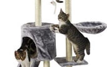 Škrabadlo pro kočky, 138x50,5x36 cm , barva antracit