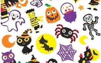 Pěnové samolepky Halloween (100 ks)